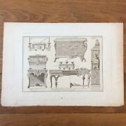 Engraving Antique Furniture André Charles Boulle Cabinetmaker Of King Louis Xiv