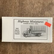 Nos Jordan Products - Highway Miniatures 1923 Mack Stake Truck Ho Scale T3