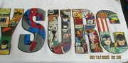 Lot Of 5 Hobby Lobby Super Heroes Comics Strip Metal Sign Letters Dc And Marvel