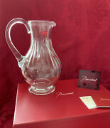 Nib New Flawless Exquisite Baccarat France Glass Massena Crystal Pitcher Carafe