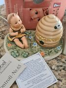 Hummel Baby Angel Bee 1364 Hummele Beehive Trinket Box And Scape 3 Pieces