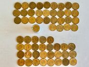 87 Sacagawea Native American Gold Dollar Coins 2000 P And D + Roll Coins