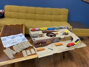Vintage 1983 Hot Wheels Railroad Freight Yard Sto And Go Train Set
