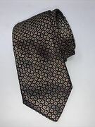 Extremely Rare Brioni Tie Diamond 24k Gold Thread Black Red Made In Italy