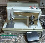 Kenmore 158 13200 Vintage Heavy Duty Sewing Machine W/ Case Tested Working Used