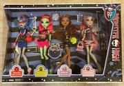 Monster High Ghoul's Night Out_4 Pack_brand New_ghoulia_venus_clawdeen_rochelle