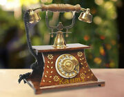 Antique Handmade Maharaja Land Line Telephone For Decor And Collectible Gifts