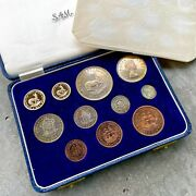 1957 South Africa With Gold Coin - Complete Proof Set Mintage 560 Sets Toning