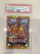 Kyrie Irving 2013 Panini Fatherand039s Day Nba Rookie Rc 30 Psa 8 Cracked Ice Auto