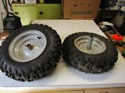 Pair Snowblower Tires And Rims 4.1x6 - Free Shipping