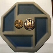 Medal Salmon P Chase And Franklin Mint Medal Treasury And J.p. Morgan