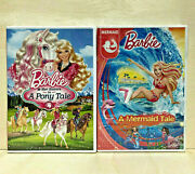 2 Barbie Dvds Barbie And Her Sisters In A Pony Tale And A Mermaid Tale - Both New