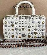 Coach 1941 Chalk Double Dinky With Beatnik Rivets Satchel Crossbody