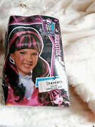 Monster High Draculaura Fangtastic Outfit Girls 6 Wig And Outfit. Size Med.