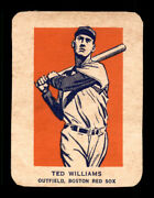 1952 Wheaties Ted Williams Action Nm-mt