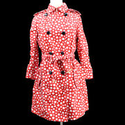 Louis Vuitton 34 Dots Infinity Long Sleeves Trench Coat Jacket Red Y03375c