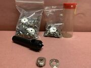 Lift The Dot 75 Piece Socket And Clinch Plate Fastener Set With Hand Held Punch
