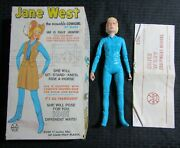 1960's Jane West Moveable Cowgirl Marx 2067 W/ Box Accessories And Manual Fn-/fn+