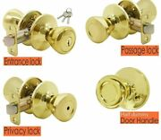 House Indoors Interior Door Front And Back Knobs With Lock Furniture Decorations