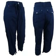 Macy's Inc Cropped Cargo Pants Regular Fit Blue Size 10 New 60