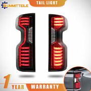 Smoked Tinted Full Led Tail Lights Rear Lamp Assembly For 19-21 Chevy Silverado