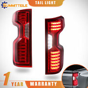 Set Red Clear Full Led Tail Lights Assembly For 19-21 Chevrolet Chevy Silverado