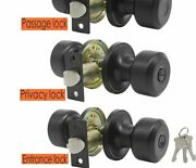 Modern Style Door Knobs Front And Back Style With Locks Stainless Steel Material