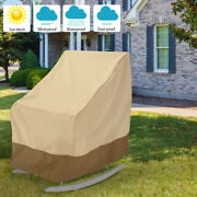 Waterproof Garden Home Rocking Chair Patio Furniture Chair Cover Storage Kit