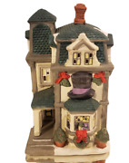 Vintage Dickens Collectables Christmas Lighted House Hatfield Haberdashery 1997