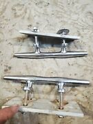 Lot Of 2 Stainless Steel 8 Boat Dock Marine Line Rope Cleats Chris Craft B11