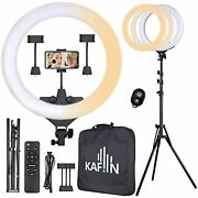 18 Ring Light With Remote Control Mobile Phone Holder 3200-5500k Open Box