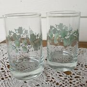 2 Corelle Callaway Juice Glass 4 Ivy Corning Excellent Condition