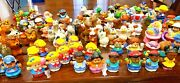 Huge Fisher Price Little People Lot Of Over 100 Figures And Animals Disney Dragon