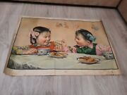 Vintage Old Rare Retro Antiques Soviet Posters In Chinese Style 1960 Ussr