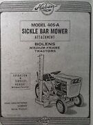 Haban Sickle Bar Mower Attachment Garden Tractor Owner Service Parts Manual 405a