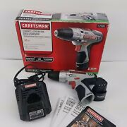 Craftsman Nextec 12v Compact Lithium-ion Drill/driver W/ Battery And Charger