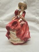 Vintage Royal Doulton England Figurines Hn 1834 Top Oand039 The Hill Lady Girl