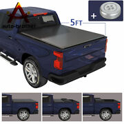 Soft 5ft Tri-fold Trunk Bed Tonneau Cover Fit For 2016-2019 Toyota Tacoma