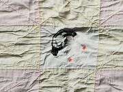 Antique Quilt Handmade Baby Faces Rare Hand Stitched Early Collectible