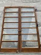French Doors 7 Light 94 X 36 Ea 72 Total Open With Hardware