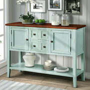 Cambridge Series Buffet Sideboard Console Table With Bottom Shelf (retro Blue)us