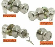 Interior Front And Back Door Knobs Lock And Handle Mechanical Locks Typed Design