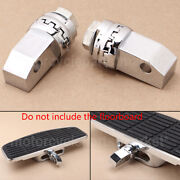 Motorcycle Chrome Floorboards Foot Pegs Adapters For Honda Shadow Ace 750 Vt750c