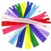 100pc 15/20/25/30/40cm Closed End Nylon Coil Zippers Sewing Clothing Accessories