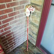 The Romper Room Tv Show Stick Horse Red White Wooden Broom-line Handle Vintage