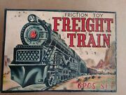 Rarerarevintage 1950's 60's Pacific Friction Toy Freight Train. 6pcs...