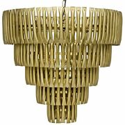 29 W Axel Metal Chandelier Pressed Tube Design Antique Brass Finish Cone Shape