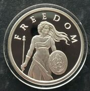 2014 1 Oz .999 Pure Silver Shield Proof Standing Freedom Girl Round Coin Bullion