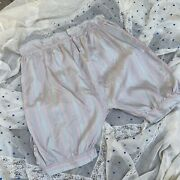 Vintage 1930s Colorful Striped Silk High Waisted Shorts Mother Of Pearl Buttons