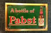 Vintage Pre-pro Pabst Beer - Brewing Toc Tin Over Cardboard Sign Milwaukee Wi
